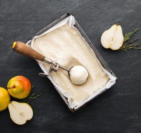 Bartlett Pear Thyme Sorbet