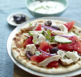 Greek Pita Flatbread with Watermelon