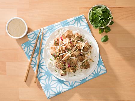 Marinated Tofu in Peanut Sauce