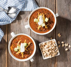 3 Pepper and Peanut Beef Chili