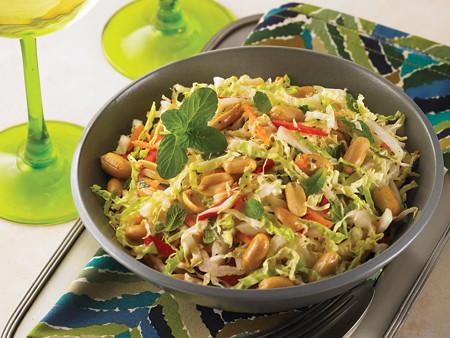 Crunchy Fennel, Napa Cabbage and Peanut Slaw