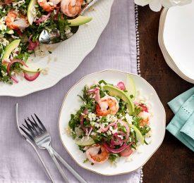 Supergreens, Shrimp and Rice Salad