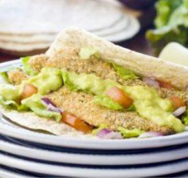 Florida Grapefruit Fish Tacos with Grapefruit Avocado Drizzle