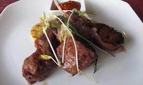 Grilled U.S. Lamb Chops with Romesco Sauce