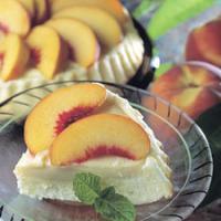 Peaches and Cream Torte Cake