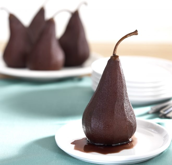 Poached Bosc Pears