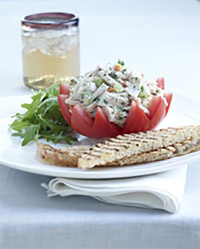Best Chicken Salad Stuffed Florida Tomato Crowns