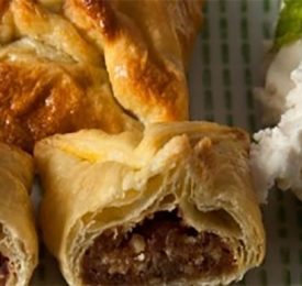 Medjool Date And Walnut Stuffed Puff Pastry