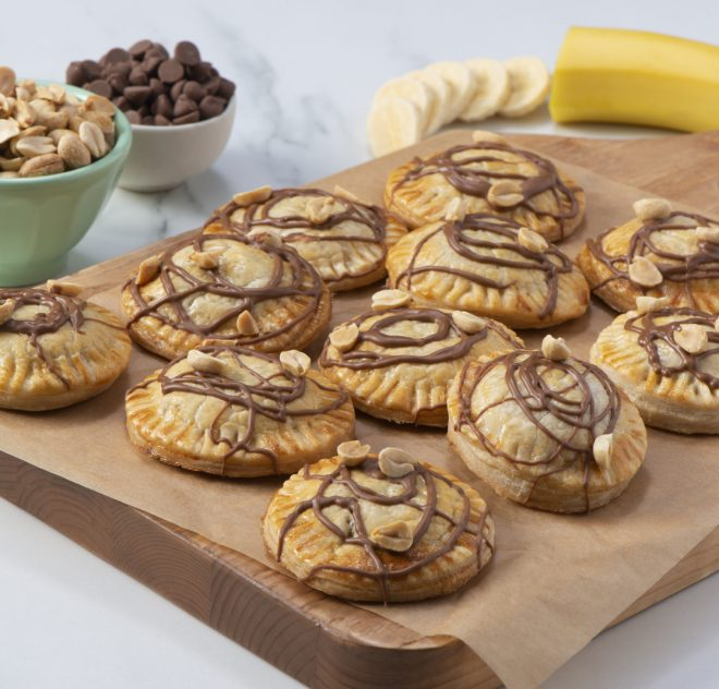 Peanut Butter, Chocolate and Banana Hand Pies