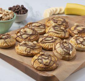 Chausson à la banane, au chocolat et au beurre d'arachide