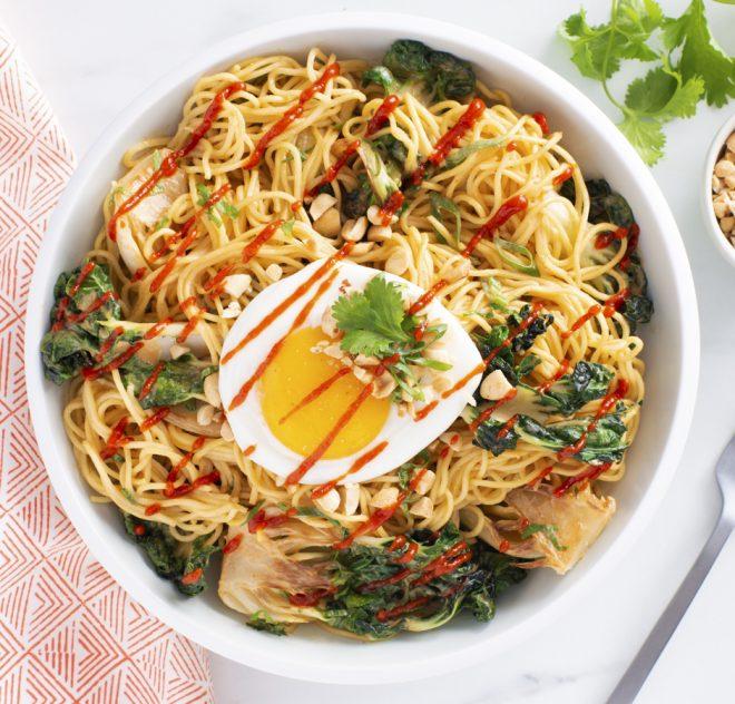 Put-an-egg-on-it Miso Peanut Noodles