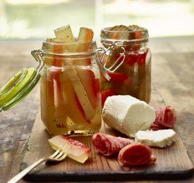 Écorce de pastèque (melon d'eau) marinée