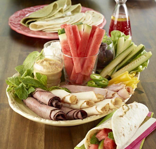 Galette genre tortilla à la pastèque (wrap) pour rouler des sandwichs