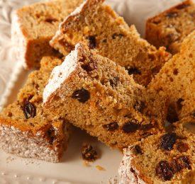 Sweet Potato-Raisin Bread Squares