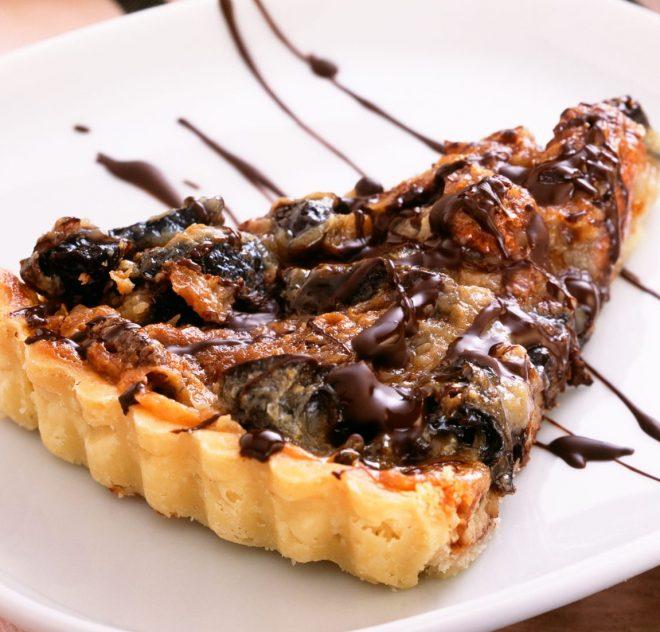 Caramelized Pecan and Prune Tart