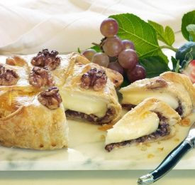 Walnut and Fig Brie in Croute