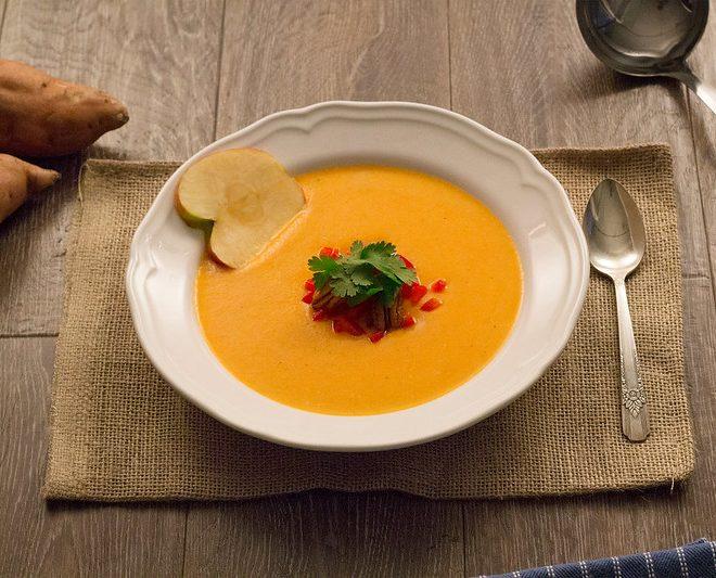 Savoury Sweet Potato Apple Soup