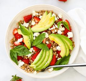 Strawberry Avocado Farro Salad