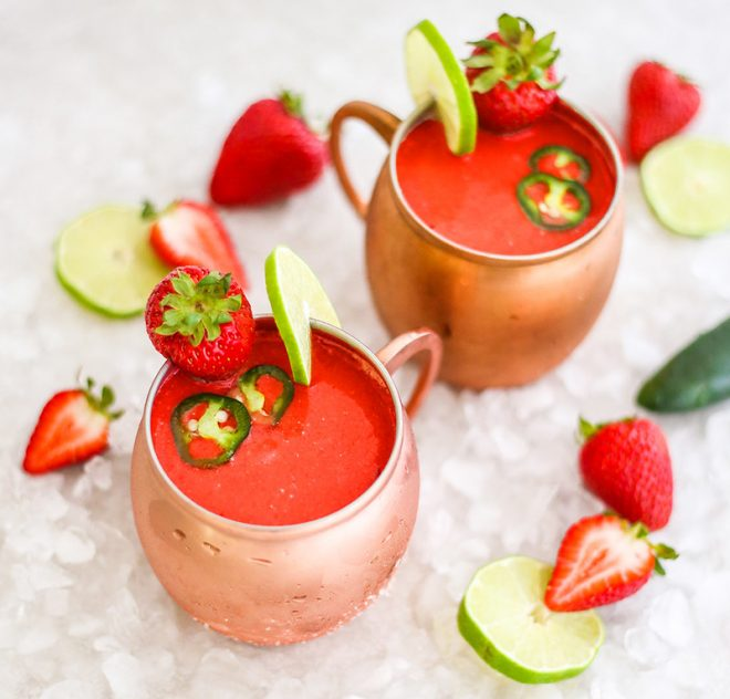 Frozen Strawberry Mexican Mule