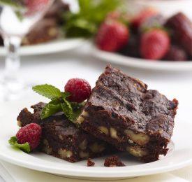 Spiced Medjool Date & Walnut Brownies