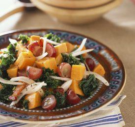 Sweet Potato, Bacon and Grape Salad