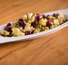 Roasted Cauliflower and Grapes with Almonds